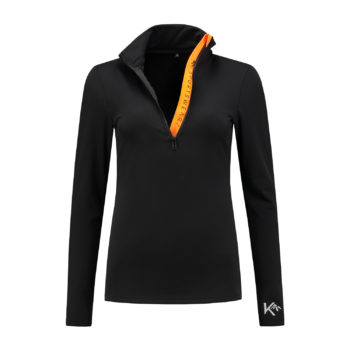 ski pully geel zwart yellow black