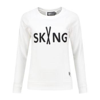 ski sweater trui wit white