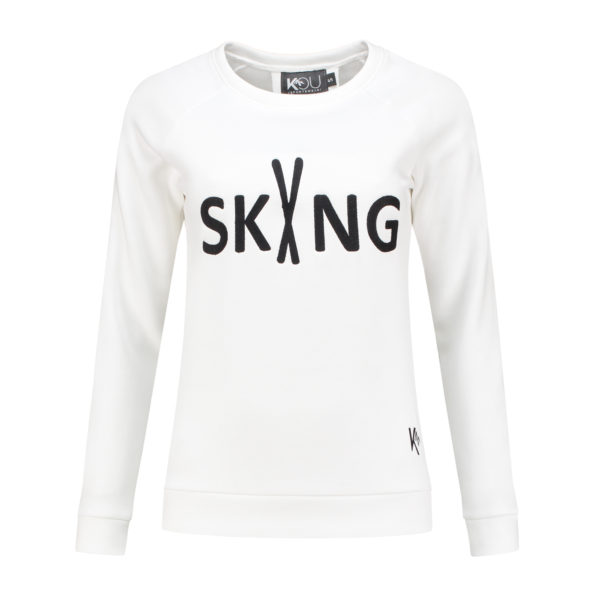 ski sweater trui wit white