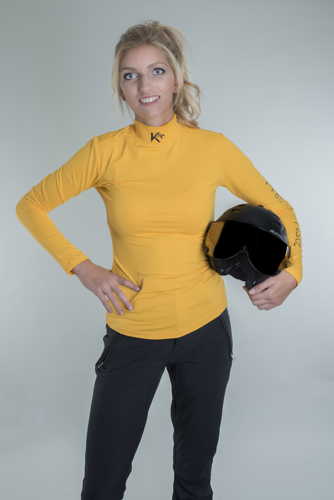 Pully basic yellow ski