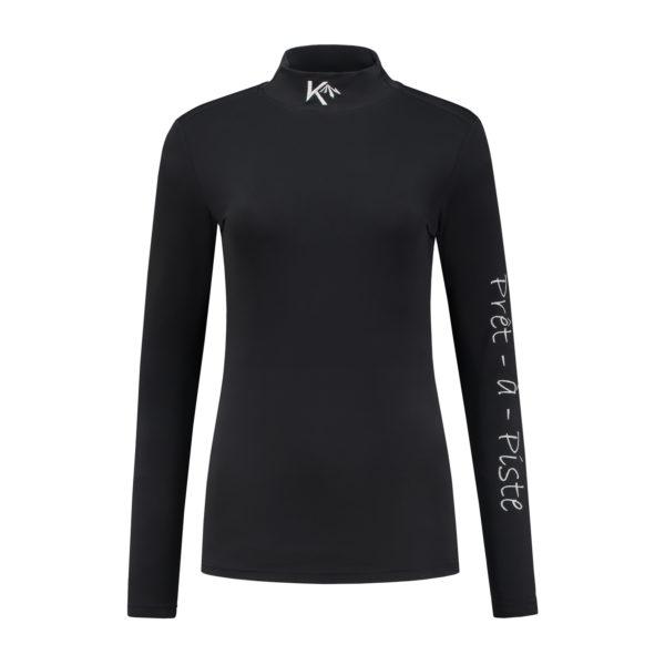 shirt dames zwart_Front