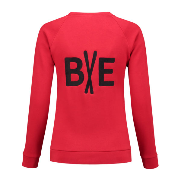 sweater red greetings back