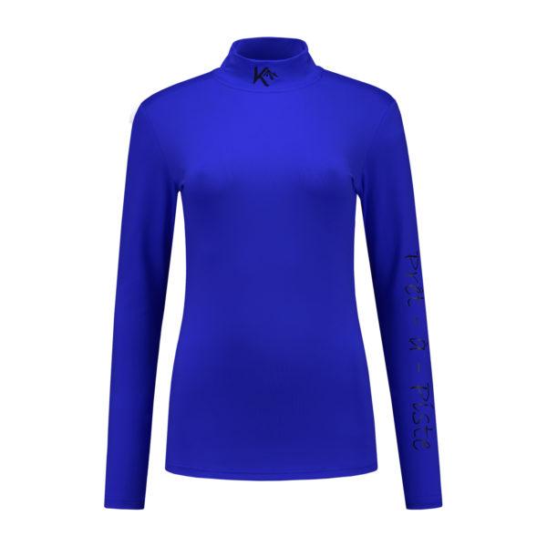 dames shirt blauw front
