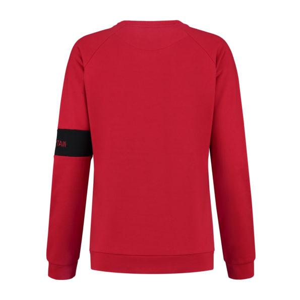 ladies sweater skiteam red back