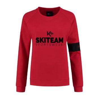 ladies sweater skiteam red front
