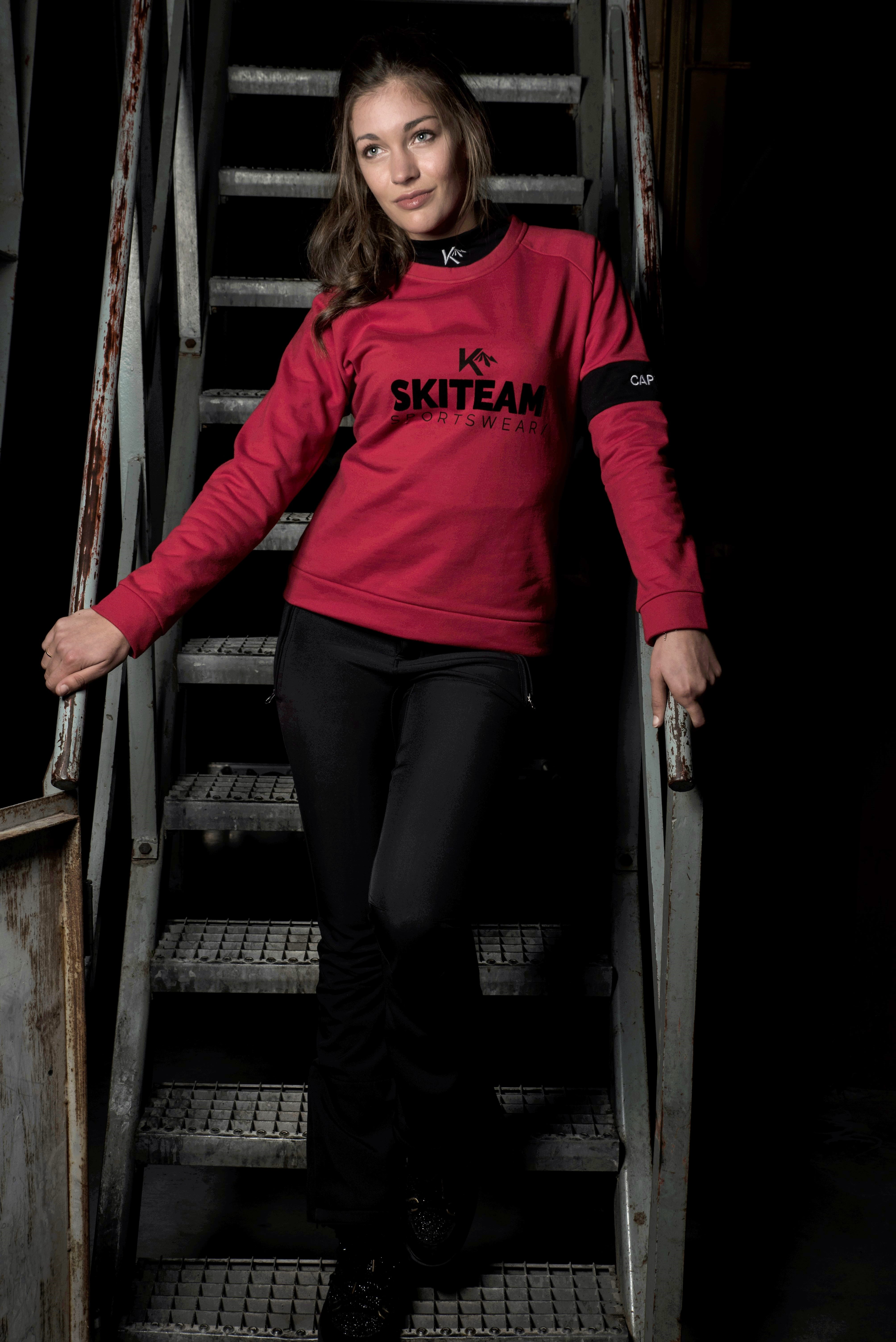Dames trui skiteam rood