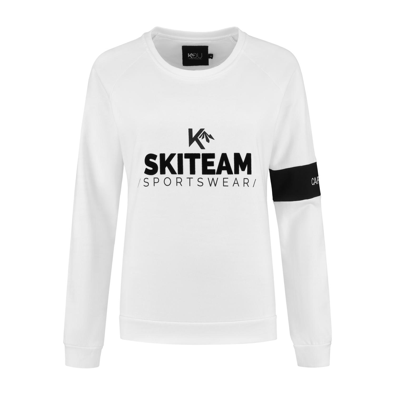 Dames Trui Met Tekst.Sweater Skiteam Bianco Kou Sportswear