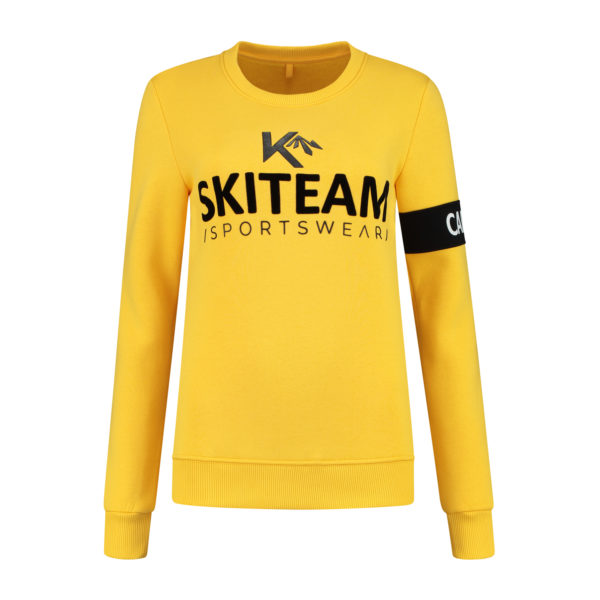 sweater yellow skiteam captain