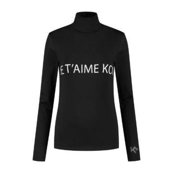 ski shirt black je t'aime