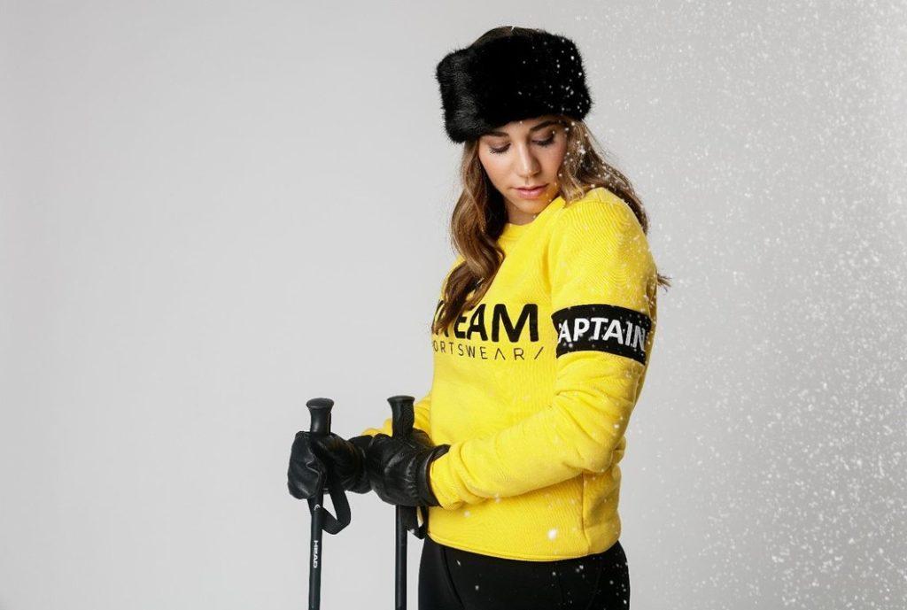 sweater ski team yellow