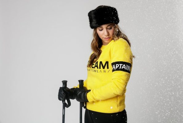 sweater ski team yellow